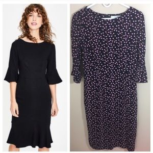 Boden Pencil Dress Scattered Dots Sz 10